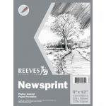 "Reeves™ 9 x 12 Newsprint Pad; Format: Pad; Size: 9"" x 12""; Type: Newsprint; Weight: 32 lb; (model 8490535), price per pad"