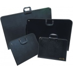 "Reeves™ Artist Portfolio 21.7"" x 29.2"" x 1.5""; Color: Black/Gray; Material: Vinyl; Size: 1 1/2""d x 29 1/5""w x 21 7/10""h; (model 8490612), price per each"