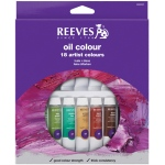 Reeves™ 10ml Oil Color Paint 18-Color Set: Multi, Tube, 10 ml, Oil, (model 8594301), price per set