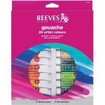 Reeves™ 10ml Gouache Watercolor Paint 24-Color Set: Multi, Tube, 10 ml, Gouache, (model 8793352), price per set
