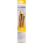 Princeton™ RealValue™ Watercolor Oil Acrylic and Tempera Bristle Brush Set; Length: Short Handle; Material: Bristle; Shape: Flat, Round; Type: Acrylic, Oil, Tempera, Watercolor; (model 9103), price per set