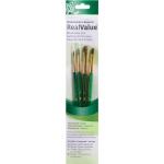 Princeton™ RealValue™ Watercolor Acrylic and Tempera Camel Brush Set; Length: Short Handle; Material: Natural; Shape: Shader; Type: Acrylic, Tempera, Watercolor; (model 9110), price per set