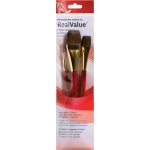 Princeton™ RealValue™ Watercolor Acrylic and Tempera Camel Brush Set; Length: Short Handle; Material: Natural; Shape: Round, Wash; Type: Acrylic, Tempera, Watercolor; (model 9122), price per set