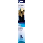 Princeton™ RealValue™ Oil Acrylic and Stain Bristle Brush Set: Long Handle, Bristle, Bright, Filbert, Flat, Round, Acrylic, Oil, Stain, (model 9131), price per set
