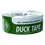 "Duck Tape® Utility Grade Silver Tape: Clear, 1.88"" x 54.6 yd, 2.6 mil, Packaging, (model 1118393), price per each"