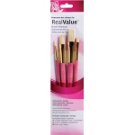 Princeton™ RealValue™ Oil Acrylic and Stain Natural Bristle Brush Set: Short Handle, Bristle, Natural, Filbert, Flat, Round, Shader, Acrylic, Oil, Stain, (model 9183), price per set