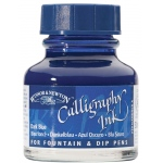 Winsor & Newton™ Calligraphy Ink Dark Blue: Blue, Bottle, 30 ml, Calligraphy, (model 1111222), price per each