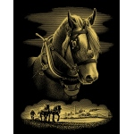 "Reeves™ Gold Foil Horse Portrait; Color: Metallic; Size: 8"" x 10""; (model PPCF24), price per each"