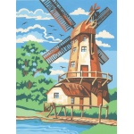 "Reeves™ Medium Painting By Numbers Set Windmill; Board Size: 9"" x 12""; (model PPNJ58), price per each"