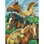 "Reeves™ Medium Painting By Numbers Set Horse Montage; Board Size: 9"" x 12""; (model PPPNJ37), price per each"