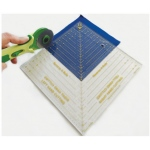 "Quint Reverse-A-Rule™ 9 1/2"" x 9 1/2"" Square: Plastic, 9 1/2"" x 9 1/2"", Manual, Ruler, (model QSTD95), price per each"
