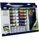 Royal & Langnickel® Essentials™ 21-Piece Acrylic Painting Set; Color: Multi; Format: Tube; Size: 12 ml; Type: Acrylic; (model RD844), price per set