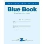 "Roaring Spring Exam Blue Books: Stapled, Book, 6 Sheets, 7"" x 8 1/2"", Line, (model ROA120), price per each"