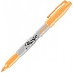 Sharpie® Neon Orange Permanent Marker; Color: Orange; Tip Type: Fine Nib; (model SN1860446), price per each
