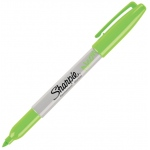 Sharpie® Neon Green Permanent Marker; Color: Green; Tip Type: Fine Nib; (model SN1860447), price per each
