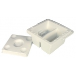 "Heritage Arts™ 6 1/2"" Square Brush Cleaning Basin: Clear, Basin, 6 1/2"", Cleaning Basin, (model HBCB-S), price per each"