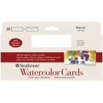 "Strathmore® Slim Size Watercolor Cards 3.75"" x 9"": White/Ivory, Envelope Included, Card, 10 Cards, 3 7/8"" x 9"", Cold Press, Watercolor, 140 lb, (model ST105-153), price per 10 Cards"