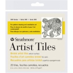 "Strathmore® 4"" x 4"" Bristol Artist Tiles; Color: White/Ivory; Format: Tile; Quantity: 20 Tiles; Size: 4"" x 4""; Texture: Vellum; Type: Bristol; Weight: 100 lb; (model ST105-970), price per 20 Tiles"