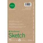 "Strathmore® 200 Series Skills 5 1/2"" x 8 1/2"" Glue Bound Sketch Pad; Color: White/Ivory; Format: Pad; Quantity: 100 Sheets; Size: 5 1/2"" x 8 1/2""; Type: Sketching; (model ST20-505), price per 100 Sheets pad"