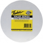 "Fredrix® Value Series Cut Edge 8"" Round Canvas Panels 6-Pack; Color: White/Ivory; Format: Panel; Size: 8"" Round; Type: Acrylic; (model T3734), price per pack"