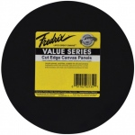 "Fredrix® Value Series Cut Edge 12"" Round Canvas Panels 6-Pack; Color: Black/Gray; Format: Panel; Size: 12"" Round; Type: Acrylic; (model T37351), price per pack"
