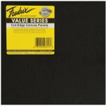"Fredrix Value Series Cut Edge Canvas Panels: Black,  8"" x 8"", Pack of 6"