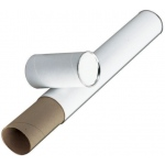 "Alvin® White Fiberboard Tubes 43""; Color: White/Ivory; Diameter: 3""; Length: 43""; Material: Fiberboard; (model T417-43/BX), price per box"