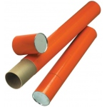 "Alvin® Orange Fiberboard Tubes 25"": Orange, 4"", 25"", Fiberboard, (model T418-25/BX), price per box"