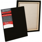 "Fredrix® Artist Series Red Label Red Label 11"" x 14"" Standard Stretched Black Canvas: Black/Gray, Panel, Gesso, 11"" x 14"", 11/16"", 11/16"" x 1 9/16"", Stretched, (model T50179), price per each"