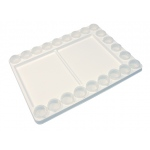 "Heritage Arts™ Heavy-Duty Plastic Palette with Removable Cups; Color: White/Ivory; Material: Plastic; Quantity: 22 Wells; Shape: Rectangle; Size: 11 3/4"" x 15 3/4""; Type: Cup; (model HPP1115), price per each"