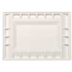"Heritage Arts™ 21-Well Heavy-Duty Plastic Classic Platform Palette: White/Ivory, Plastic, 21 Wells, Rectangle, 9 3/8"" x 13 1/4"", Tray, (model HPP913-21C), price per each"