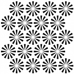 """The Crafter's Workshop 6"""" x 6"""" Journal and Design Template Retrobursts: 6"""" x 6"""", Patterned Stencil, (model TCW439S), price per each"""