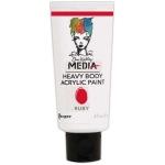Ranger Dina Wakley Media Heavy Body Acrylic Paints: Ruby