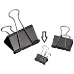 "Alvin® Binder Clips 3/4""; Color: Black/Gray; Size: 3/4""; (model 20107), price per box"