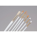 Princeton™ Brush Set Watercolor Acrylic and Tempera Round 5 Flat 2 and 6 Angular Shader 1/4: Synthetic, Angular Shader, Flat, Round, Acrylic, Tempera, Watercolor, (model 9307), price per set