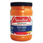 Speedball® Opaque Fabric Screen Printing Ink Sherbet; Color: Orange; Format: Jar; Ink Type: Fabric; Size: 32 oz; Type: Screen Printing; (model 4829), price per each
