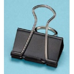 "Alvin® Binder Clips 1 1/4""; Color: Black/Gray; Size: 1 1/4""; (model 50155), price per box"