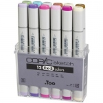 Copic Sketch Markers Set: 12 Piece, EX-5