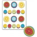 "Little Yellow Bicycle Sweet Summertime Dimensional Pop-Up Stickers: 16 Pieces, 4.75"" x 6"""