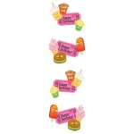 Mrs. Grossman's Regular Standard Strips Stickers: Scene One Party Fun