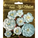 Petaloo Penny Lane Mixed Blossoms: Robin Egg Blue