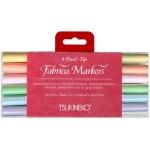 Tsukineko Fabrico Markers Sets: Sorbet, 6 Pieces
