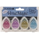 Tsukineko VersaMagic Dew Drops: Jewel Box, Pack of 4