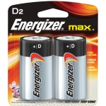 Energizer® MAX® MAX® D Battery 2pk; Type: Batteries; (model EBC95), price per pack