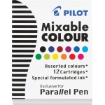 Pilot®  Parallel Pen Mixable Refill Ink 12-Pack Assorted Colors: Multi, Refill, (model ICP31AST), price per pack