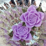 Marion Smith Designs Junque & Gems Resin Rose: Lavender