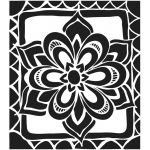 "The Crafter's Workshop 6"" x 6"" Journal and Design Template Zen Flower; Size: 6"" x 6""; Type: Patterned Stencil; (model TCW466S), price per each"