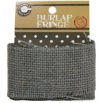 Canvas Corp Burlap Fringe: Grey