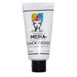 Ranger Dina Wakley Media: Gesso Black, 2oz Tube