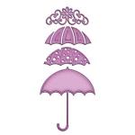 Spellbinders Die D-Lites In'Spire: Umbrella Trio Dies